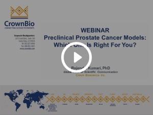 Preclinical Prostate Models webinar