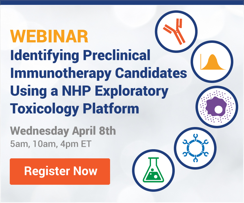 Identifying Preclinical Immunotherapy Candidates Using a NHP Exploratory Toxicology Platform