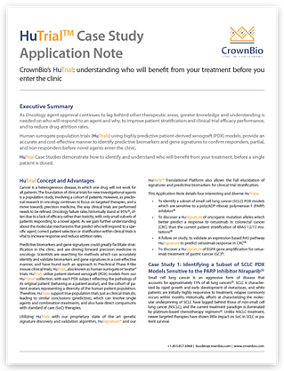 CrownBio Application Note: HuTrial™ Case Studies