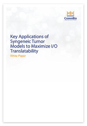 White Paper: How to Optimize the Translatability and Use of Syngeneic Models