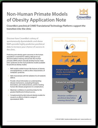 CrownBio Application Note - NHP Models of Obesity