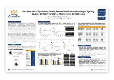 CrownBio 2018. Poster 421-P: ZDSD Rat Preclinical Model for Cardiomyopathy Drug Discovery
