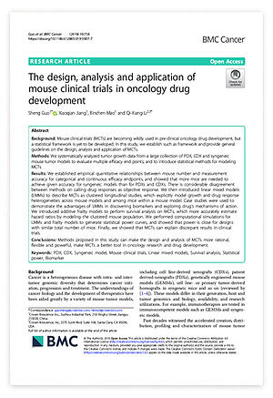 Publication: How to Design, Apply, and Use Mouse Clinical Trials