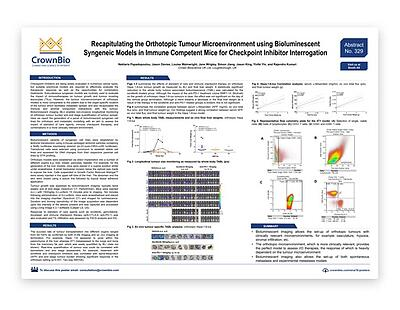 Poster 329: Orthotopic Syngeneics: More Clinically Relevant I/O Models