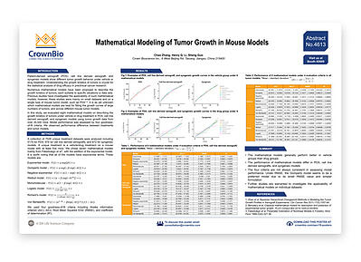AACR Poster 4613: Evaluating Mathematical Models of Tumor Growth Kinetics