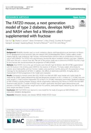 Publication: New NAFLD/NASH Mouse Model with Concurrent Metabolic Dysregulation