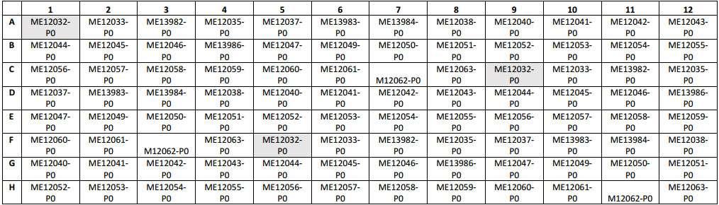Map of Melanoma Tumor Microarray Slide